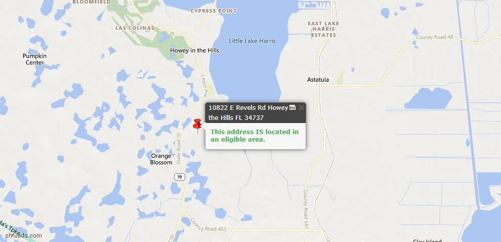 USDA Loan Eligiblity Maps From - Howey In The Hills, FL