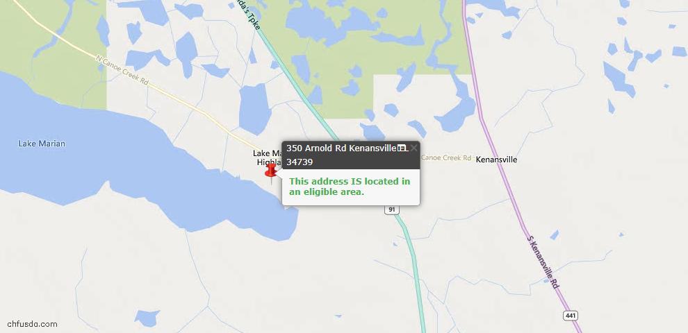 USDA Loan Eligiblity Maps From - Kenansville, FL