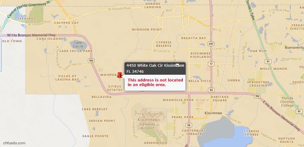 USDA Loan Eligiblity Maps From - 34746, FL