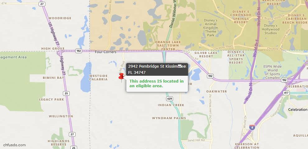 USDA Loan Eligiblity Maps From - Other City - In The State Of Florida, FL