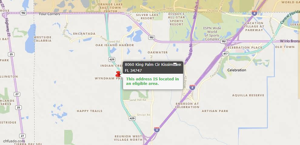 USDA Loan Eligiblity Maps From - Kissimmee, FL