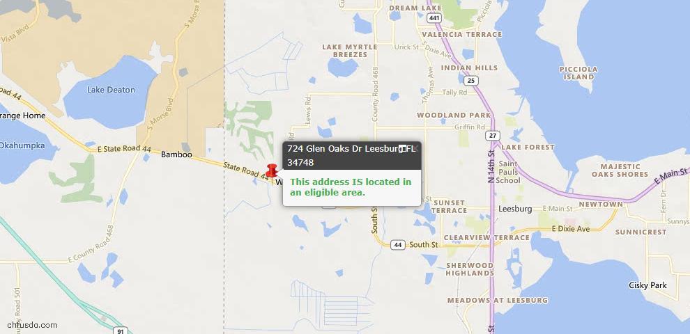 USDA Loan Eligiblity Maps From - 34748, FL
