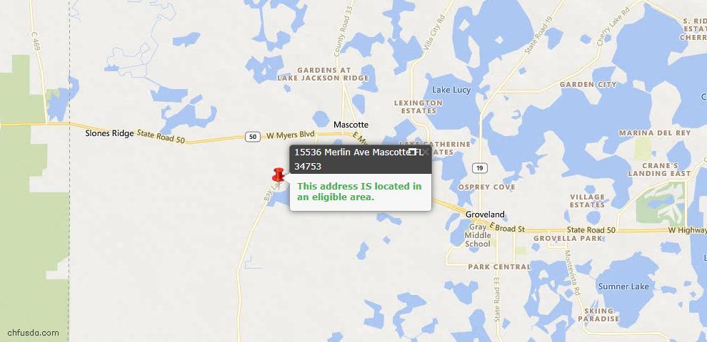 USDA Loan Eligiblity Maps From - Mascotte, FL