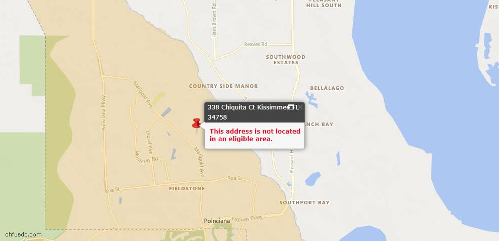 USDA Loan Eligiblity Maps From - Osceola County, FL