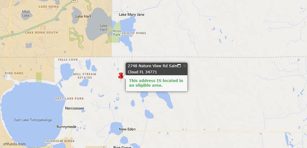 USDA Loan Eligiblity Map - 2748 Nature View Rd, Saint Cloud, FL 34771