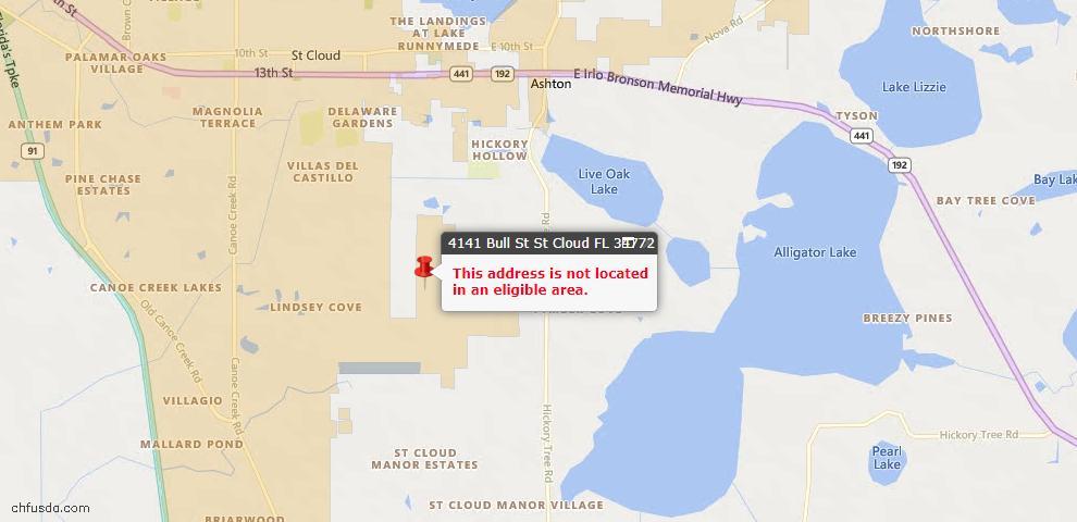 USDA Loan Eligiblity Maps From - 34772, FL