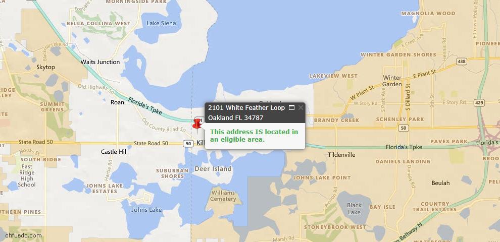USDA Loan Eligiblity Maps From - Oakland, FL