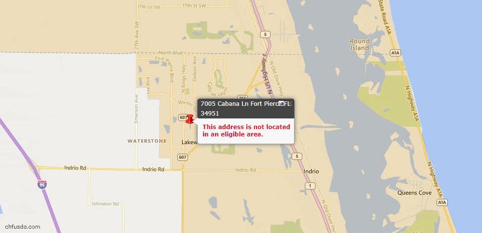 USDA Loan Eligiblity Maps From - Fort Pierce, FL