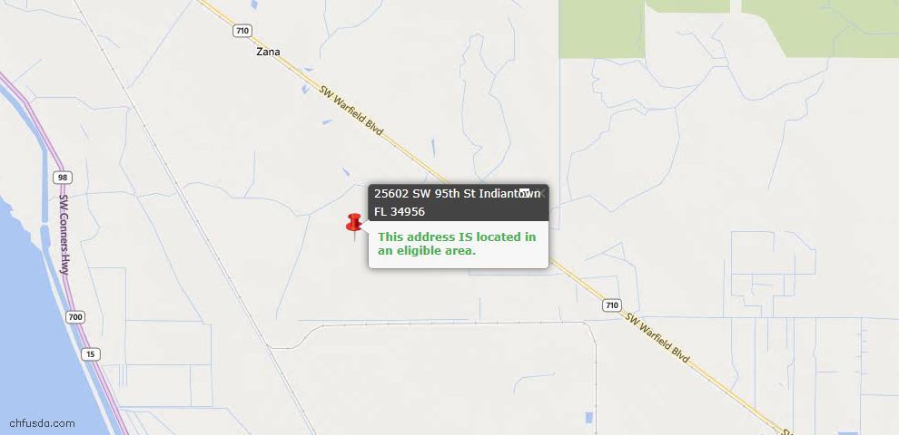USDA Loan Eligiblity Maps From - Indiantown, FL