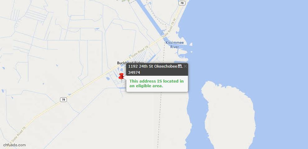 USDA Loan Eligiblity Maps From - Bulkhead Ridge, FL