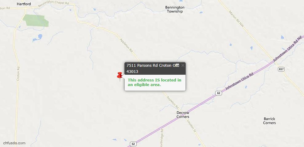 USDA Loan Eligiblity Maps From - Croton, OH