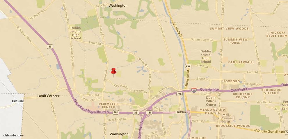 USDA Loan Eligiblity Map - 6049 Holywell Dr, Dublin, OH 43017