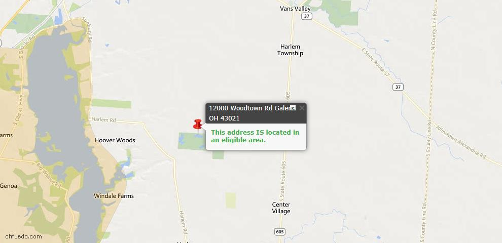 USDA Loan Eligiblity Maps From - Galena, OH