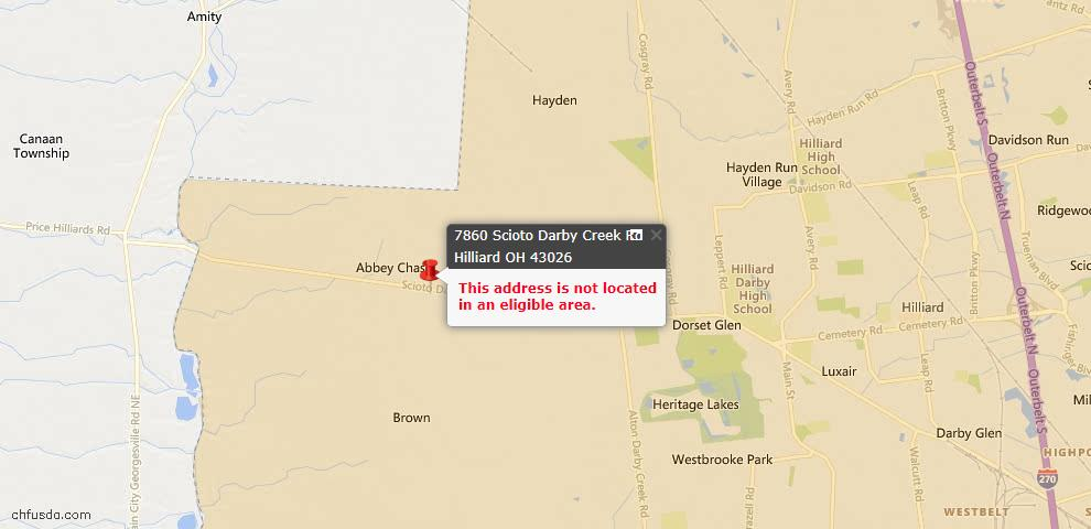USDA Loan Eligiblity Maps From - Hilliard, OH