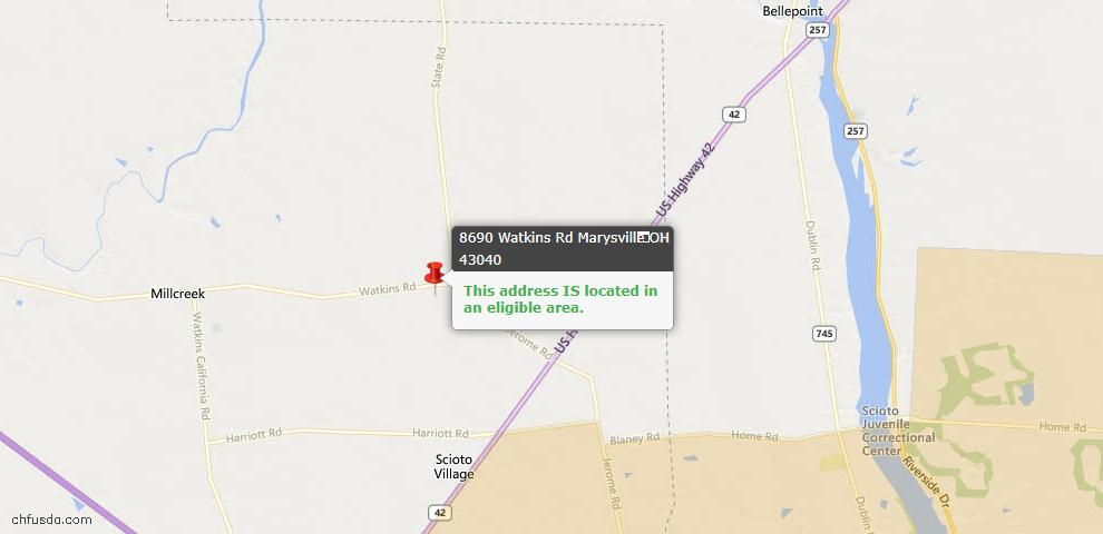 USDA Loan Eligiblity Maps From - Union County, OH