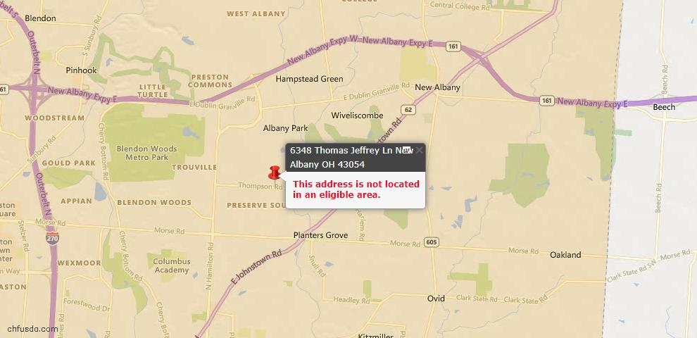 USDA Loan Eligiblity Maps From - New Albany, OH