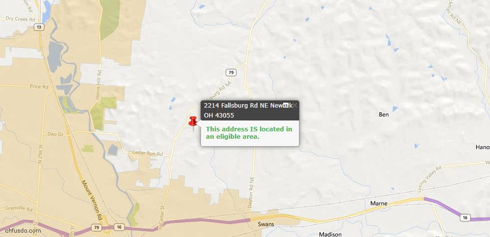 USDA Loan Eligiblity Maps From - Franklin County, OH
