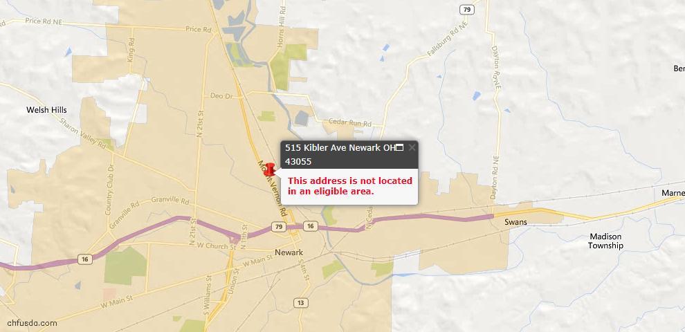 USDA Loan Eligiblity Maps From - Newark, OH