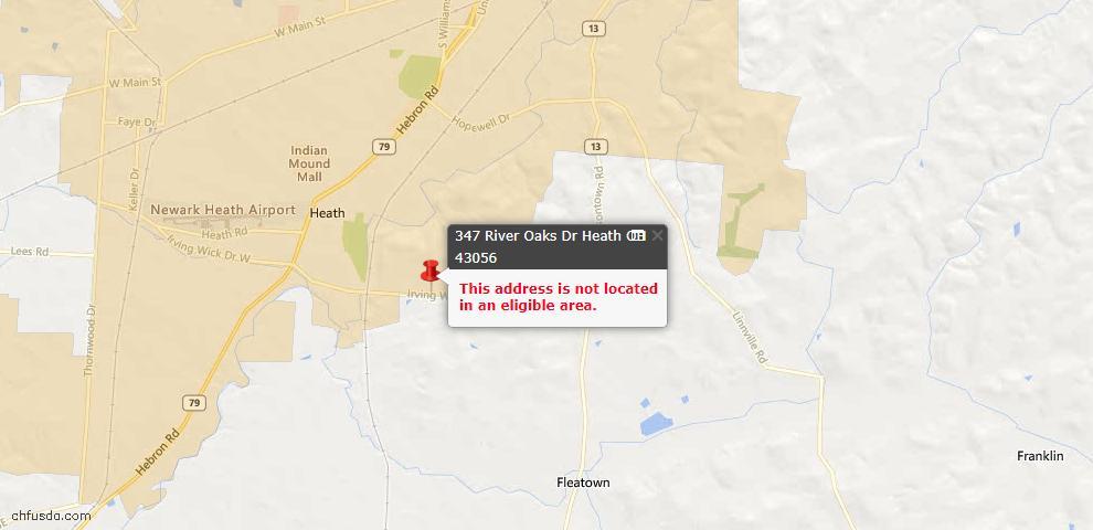 USDA Loan Eligiblity Maps From - Heath, OH