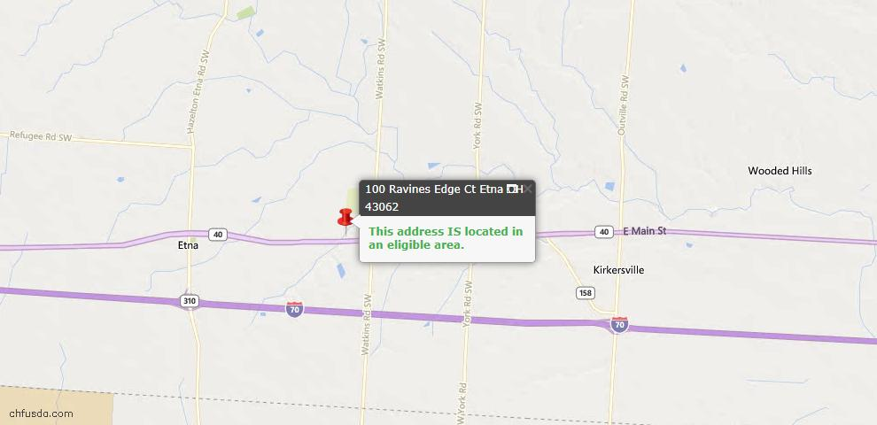 USDA Loan Eligiblity Maps From - 43062, OH