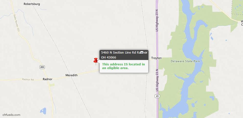 USDA Loan Eligiblity Maps From - Radnor, OH