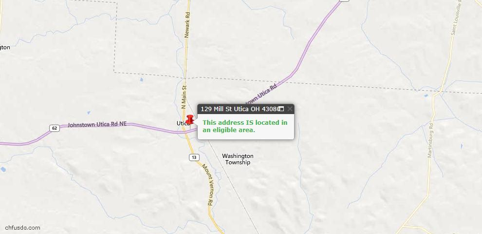 USDA Loan Eligiblity Maps From - Utica, OH