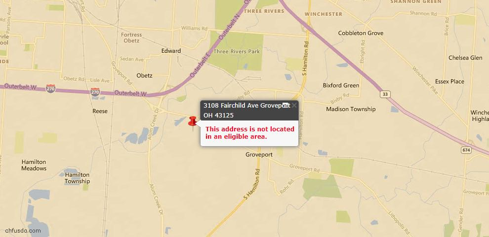 USDA Loan Eligiblity Maps From - Groveport, OH