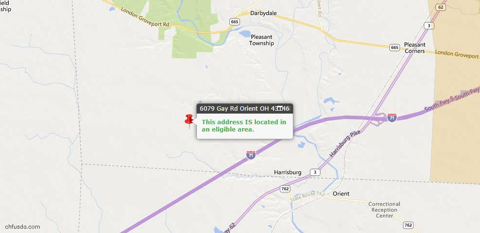 USDA Loan Eligiblity Maps From - Orient, OH