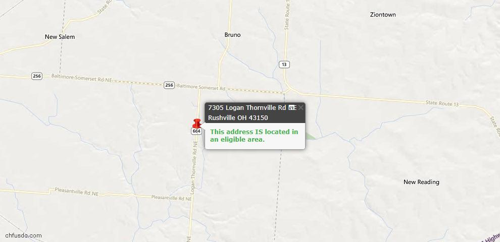 USDA Loan Eligiblity Maps From - Rushville, OH