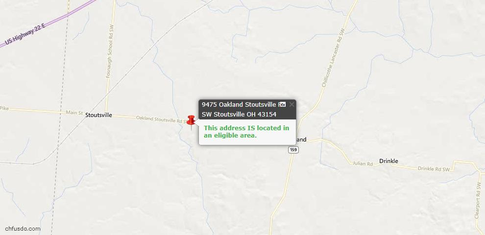 USDA Loan Eligiblity Maps From - Stoutsville, OH