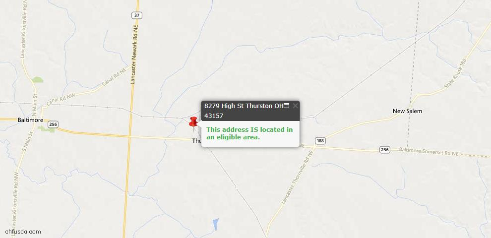 USDA Loan Eligiblity Maps From - Thurston, OH