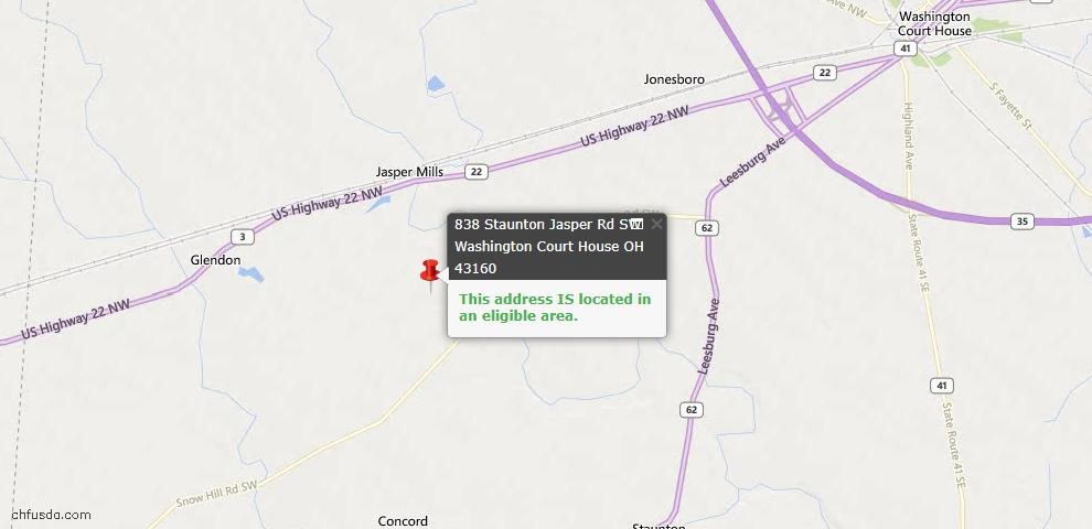 USDA Loan Eligiblity Maps From - Concord Twp, OH