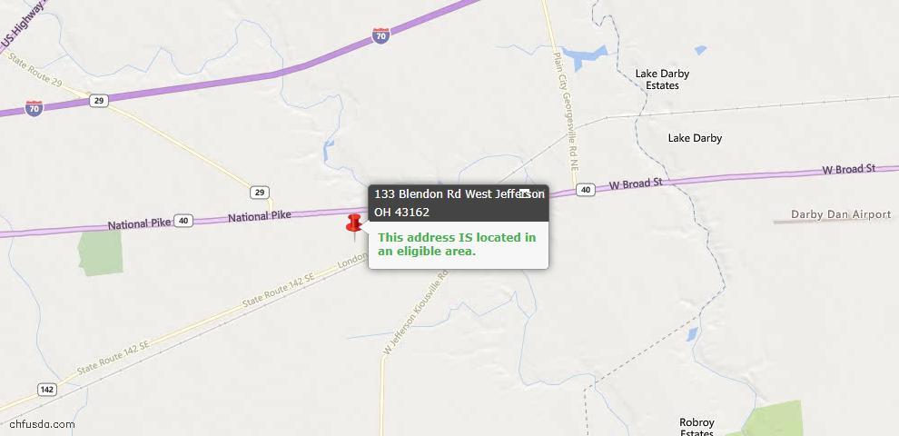 USDA Loan Eligiblity Maps From - West Jefferson, OH