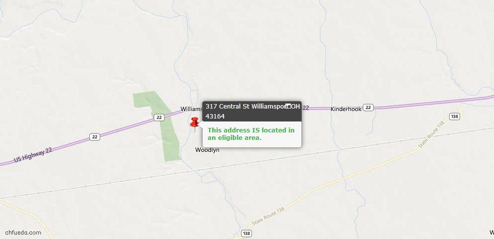 USDA Loan Eligiblity Maps From - Williamsport, OH