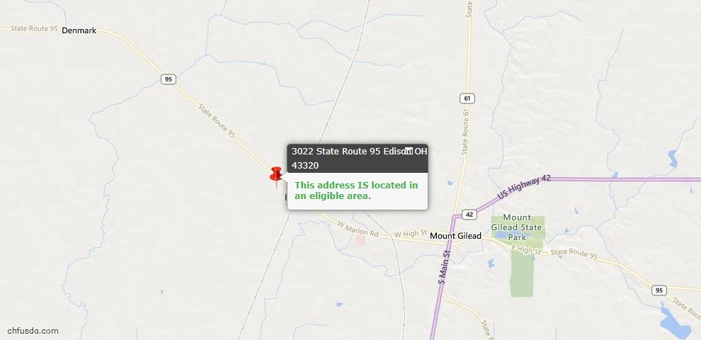 USDA Loan Eligiblity Maps From - Edison, OH