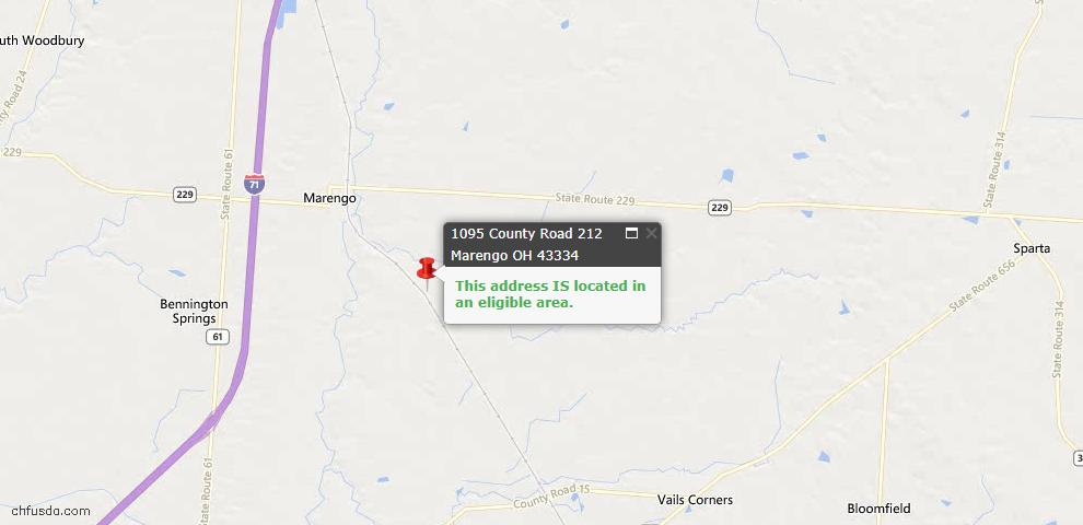 USDA Loan Eligiblity Maps From - Marengo, OH