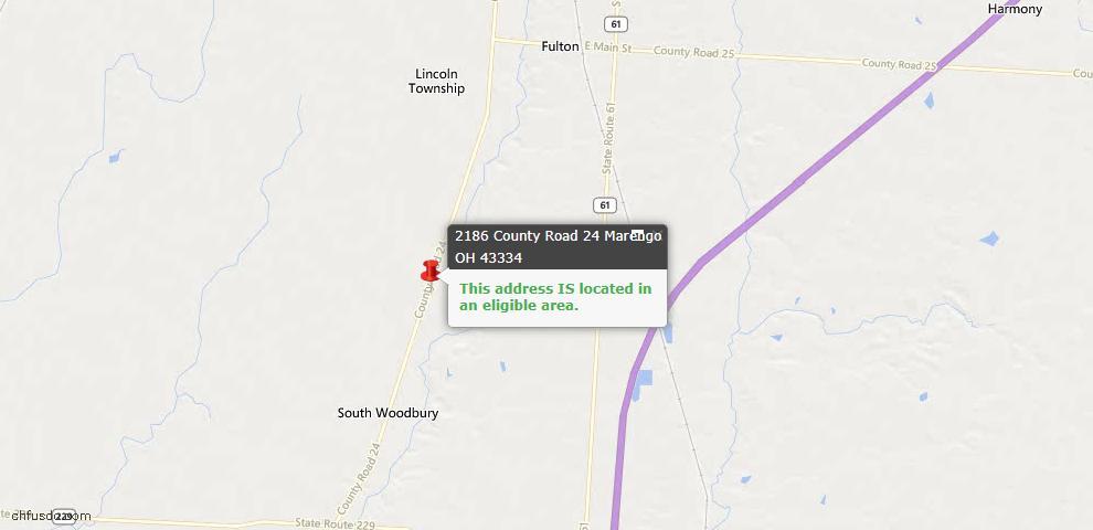 USDA Loan Eligiblity Maps From - Marengo, OH
