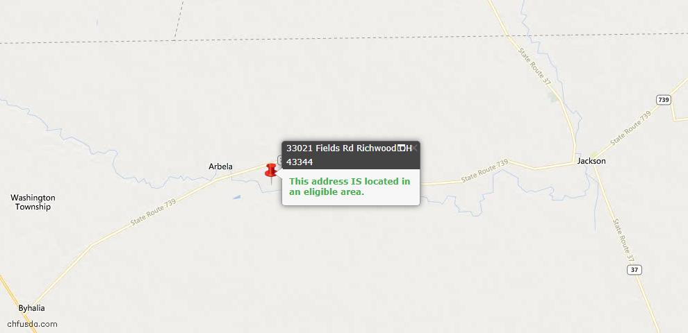 USDA Loan Eligiblity Maps From - Richwood, OH