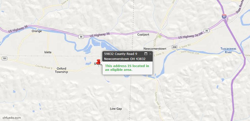 USDA Loan Eligiblity Maps From - Newcomerstown, OH