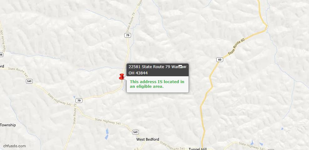 USDA Loan Eligiblity Maps From - Coshocton County, OH