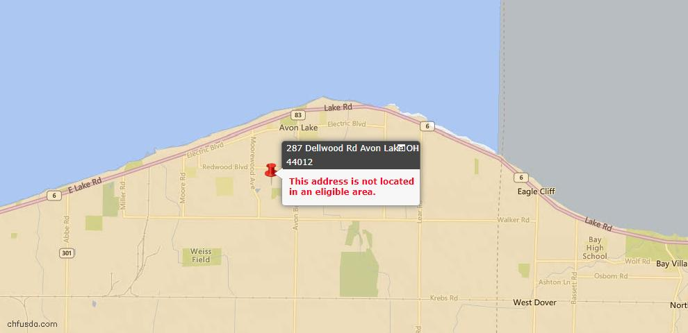 USDA Loan Eligiblity Maps From - Avon Lake, OH