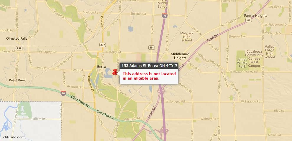 USDA Loan Eligiblity Maps From - 44017, OH