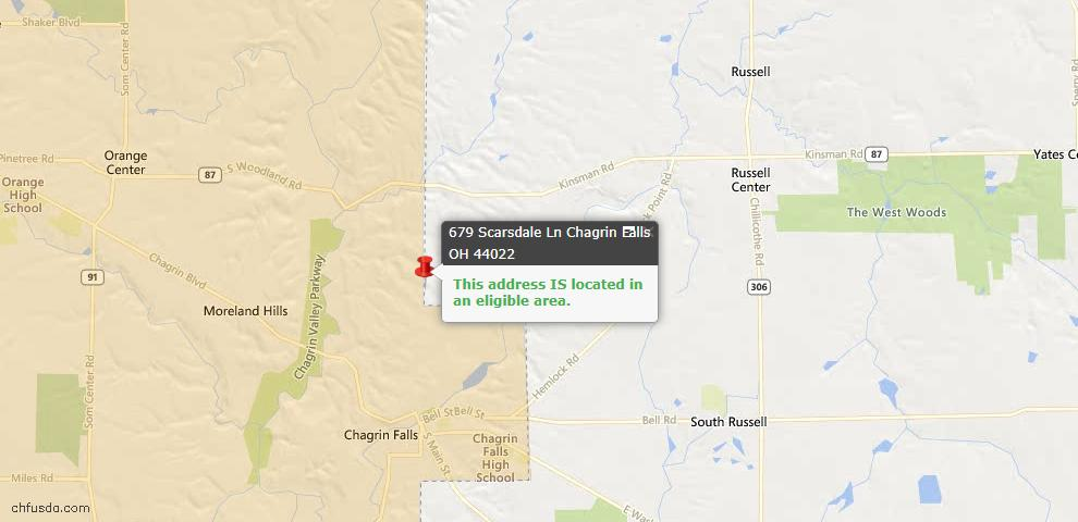 USDA Loan Eligiblity Maps From - Russell, OH