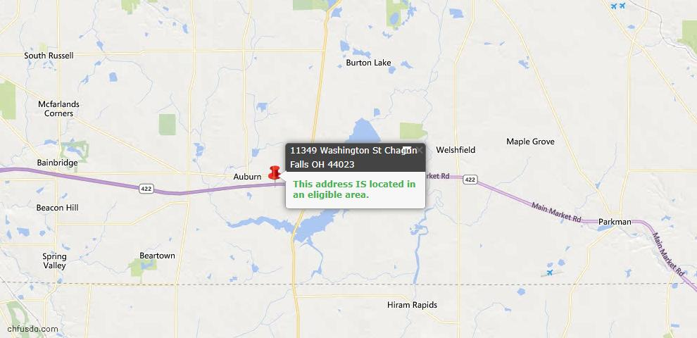 USDA Loan Eligiblity Map - 11349 Washington St, Chagrin Falls, OH 44023