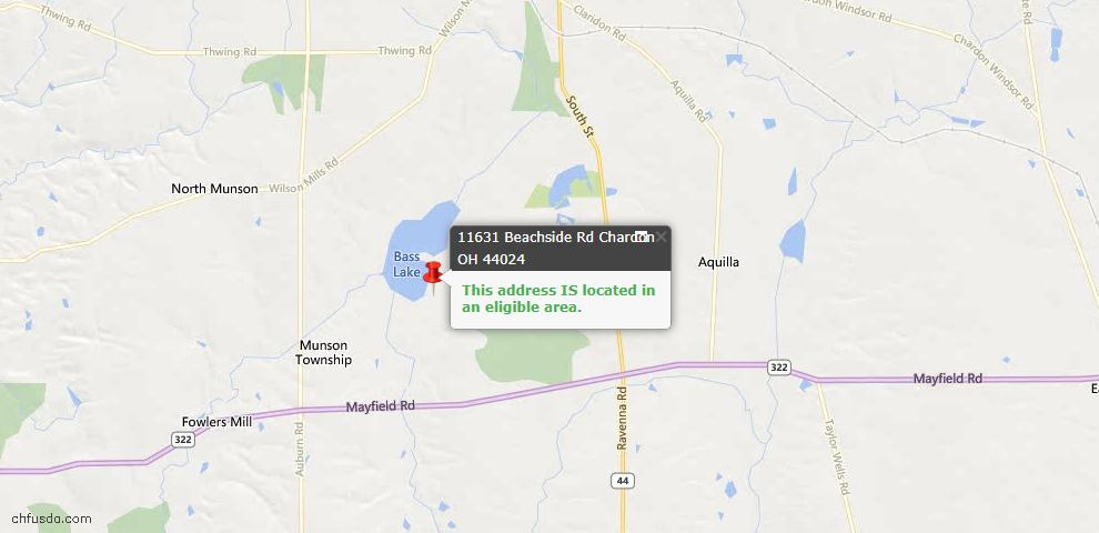 USDA Loan Eligiblity Maps From - Geauga County, OH