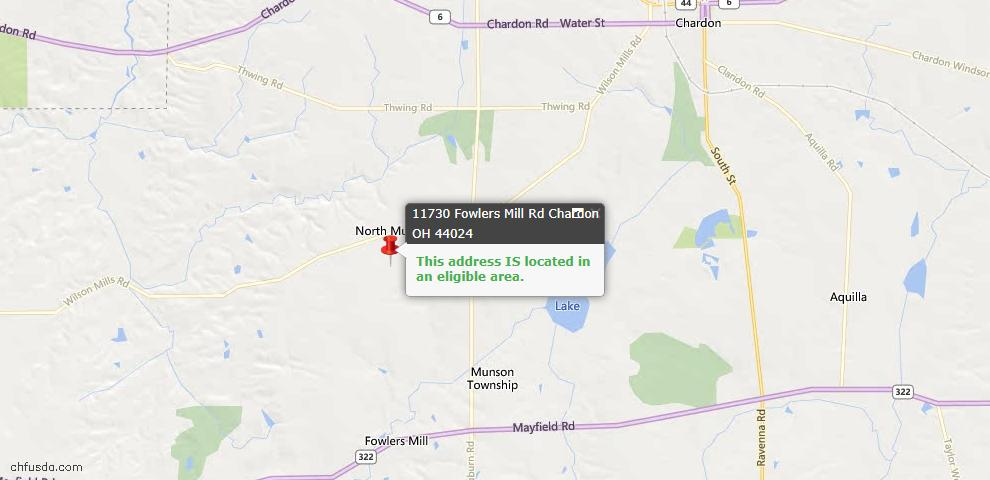 USDA Loan Eligiblity Maps From - Munson, OH