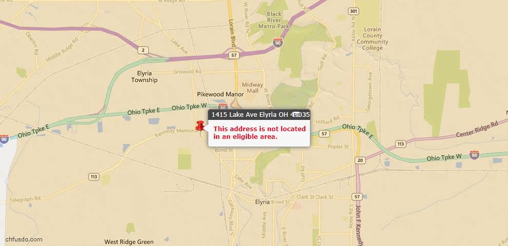 USDA Loan Eligiblity Maps From - 44035, OH