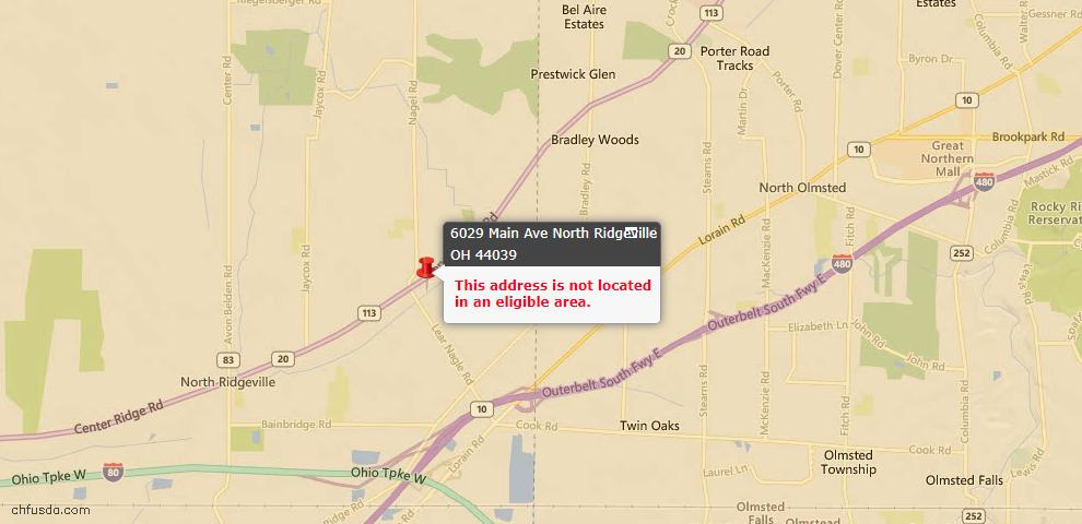 USDA Loan Eligiblity Maps From - Lorain County, OH