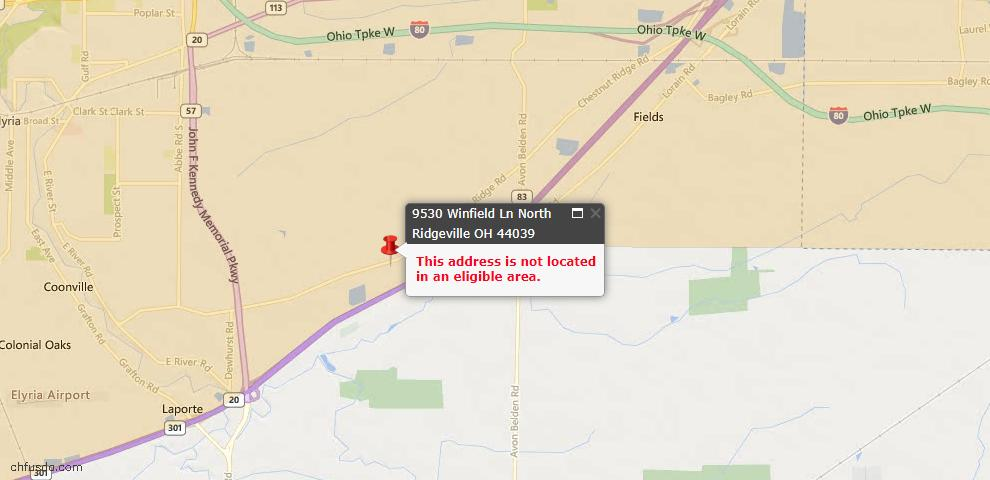 USDA Loan Eligiblity Maps From - North Ridgeville, OH