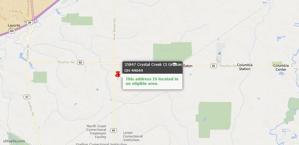 USDA Loan Eligiblity Maps From - Grafton, OH